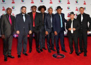 El Septeto Santiaguero a su llegada a la 19a ceremonia anual de los Premios Grammy Latinos en el MGM Grand Garden Arena en Las Vegas, este 15 de noviembre de 2018. Foto: Nina Prommer / EFE.