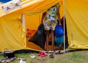Centro habilitado para inmigrantes venezolanos en Bogotá, Colombia. Foto: Dahian Cifuentes.