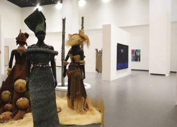 Una galería del nuevo Museo de las Civilizaciones Negras en Dakar, Senegal. (AP Foto/Amelia Nierenberg)