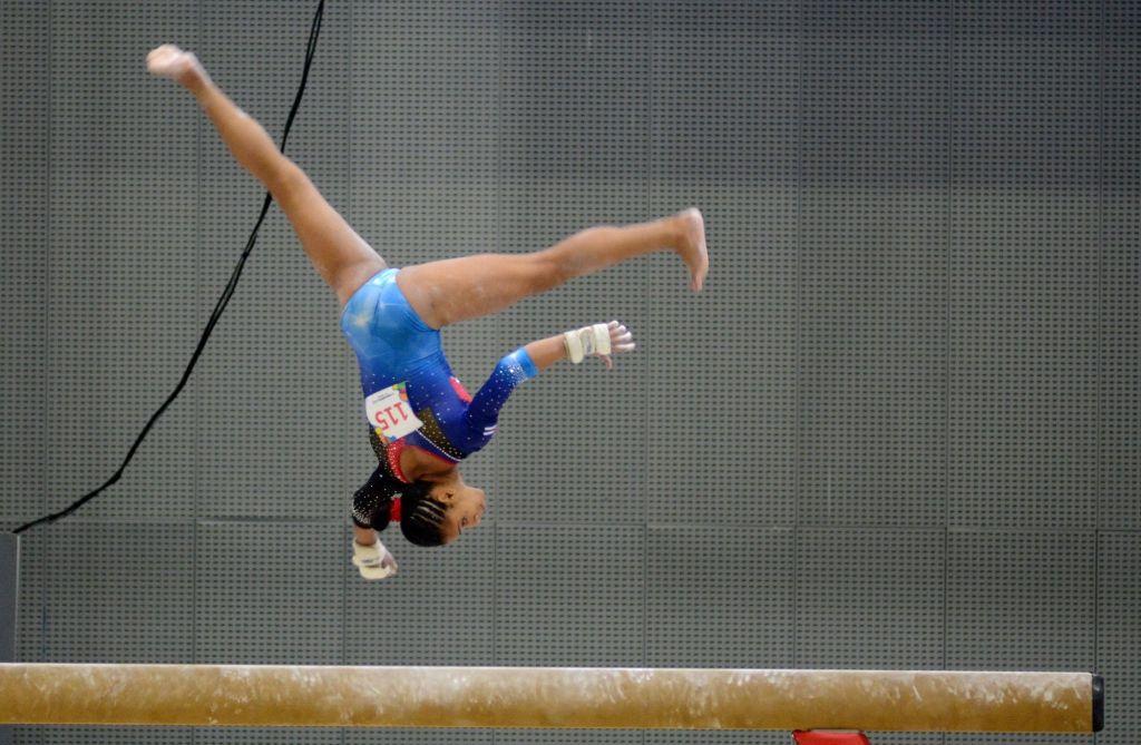 Marcia Videaux lideró al elenco de gimnasia artítica que recuperó espectacularmente el reinado centroamericano por equipos. Foto: Ricardo López Hevia