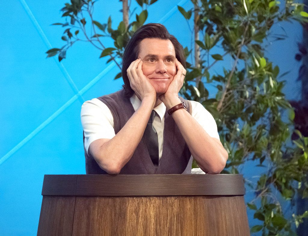 "Jim Carrey en el papel de Jeff Pickles en una escena de la serie ""Kidding"".  (Erica Parise/Showtime via AP)"