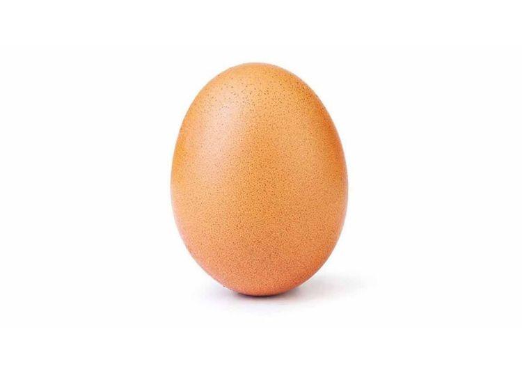 La foto de un huevo se convirtió en la más gustada en la red social Instagram.Foto: world_record_egg / Instagram.