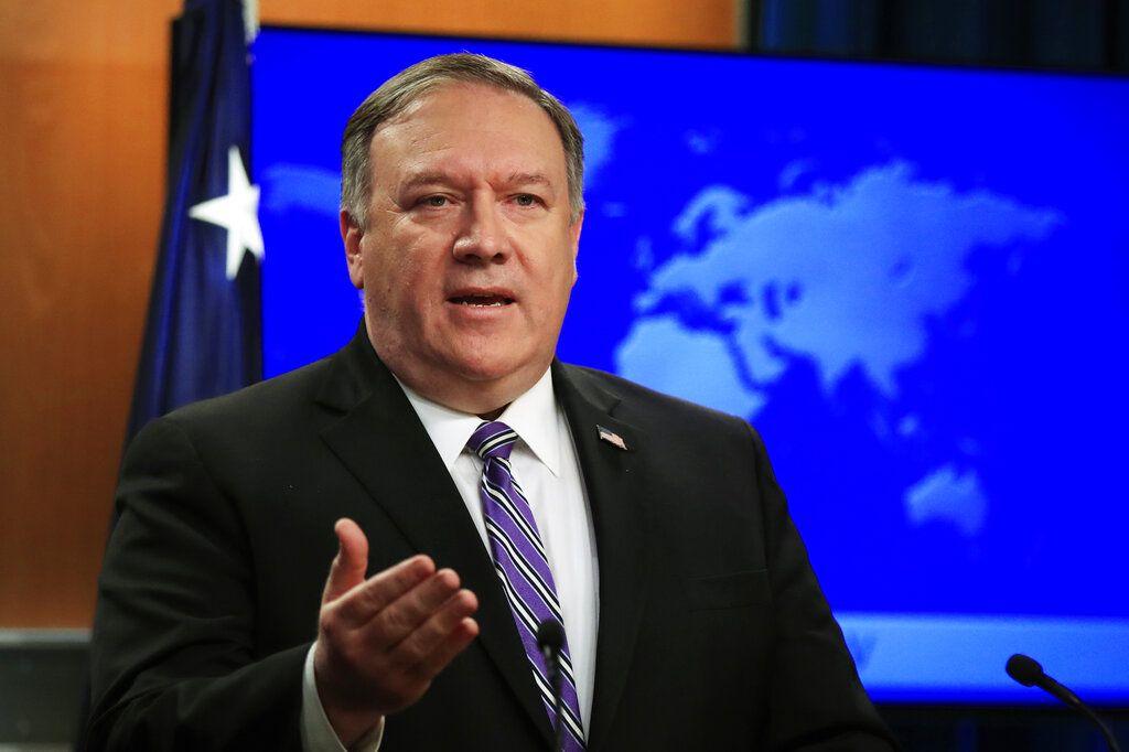 El secretario de Estado, Mike Pompeo, habla sobre la situación en Venezuela, en el Departamento de Estado, el viernes 25 de enero de 2019. Foto: Manuel Balce Ceneta / AP.