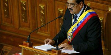 El presidente de Venezuela, Nicolás Maduro, da su discurso anual a la nación ante los miembros de la Asamblea Constitucional en Caracas, Venezuela, el lunes 14 de enero de 2019. Foto: Ariana Cubillos / AP.