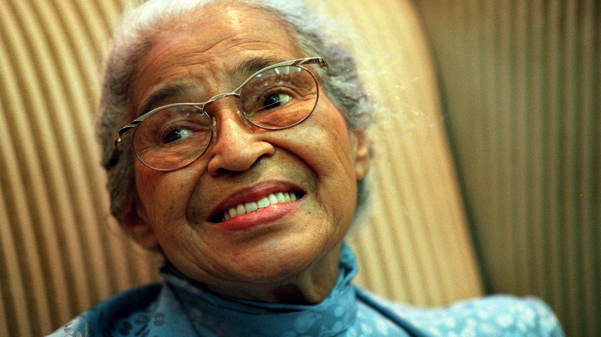 Rosa Parks anciana. Foto: folks.pillpack.com
