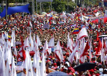 Simpatizantes del gobierno de Nicolás Maduro en un acto en Caracas, Venezuela, el sábado 2 de febrero de 2019. Foto: Ariana Cubillos / AP / Archivo.