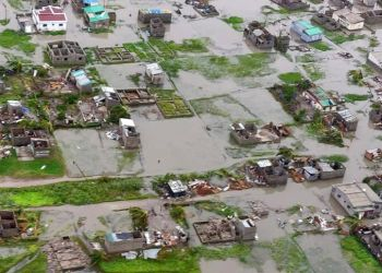 Vista aérea de las consecuencias del ciclón en la ciudad de Beira, Mozambique. Foto entregada por la Federación Internacional de la Cruz Roja y Media Luna Roja, el lunes 18 de marzo del 2019, vía AP.