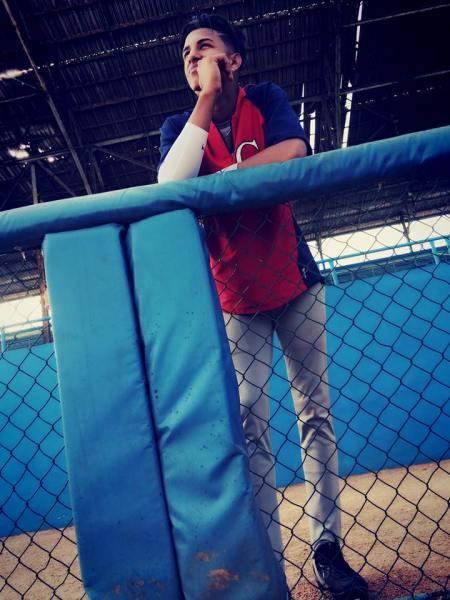 Carlos Pelegrín en el estadio Latinoamericano. Foto: Tomada de su perfil de Facebook