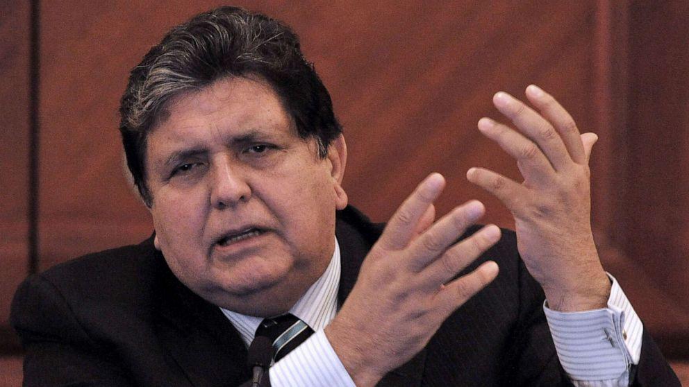 El ex presidente Alan García . Foto: AP