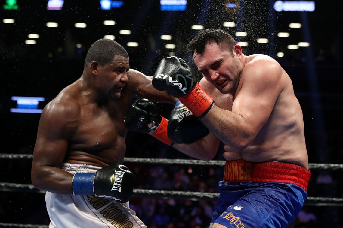 "En su pelea más reciente, Luis ""King Kong"" Ortiz superó al rumano (residente en Alemania) Christian Hammer. Foto: Al Bello/Getty Images"