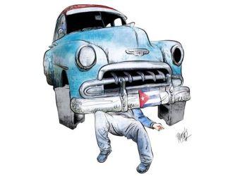Cuba pa´l taller fue publicado en  2018. Dibujo:  Ramsés Morales Izquierdo