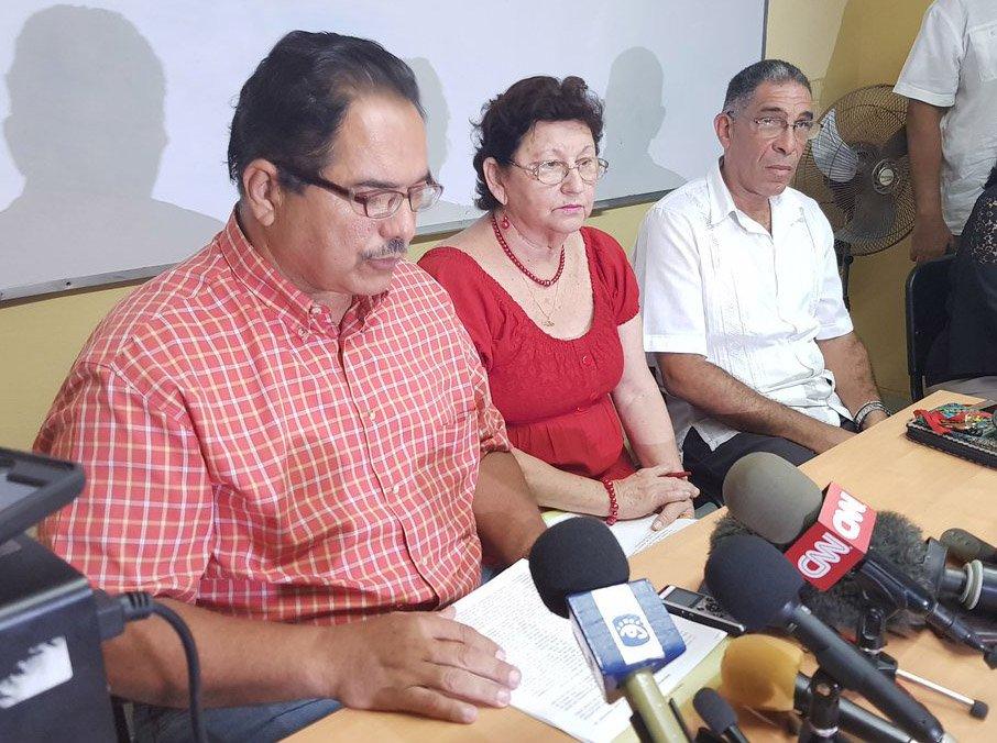 Representantes del Ministerio de Educación Superior de Cuba denunciaron en conferencia de prensa que EE.UU. negó el visado o imposibilitó su obtención a unos 200 académicos de la Isla que asistirían a un congreso de Asociación de Estudios Latinoamericanos (LASA) en Boston. Foto: @HatzelVelaWPLG / Twitter.