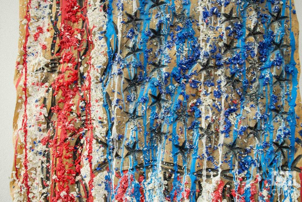 Obra del artista cubano Michel Mirabal que se exhibe en su galería taller, como parte de las actividades colaterales de la XIII Bienal de La Habana. Foto: Otmaro Rodríguez.