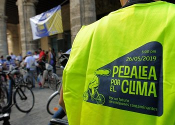 Pedalea por el clima. Foto: Néstor Martí.