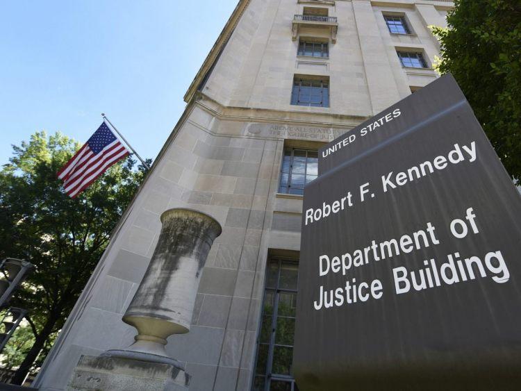 Departamento de Justicia de Estados Unidos. Foto: AP.
