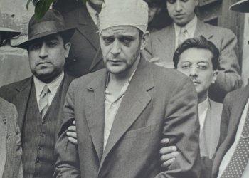 Ramón Mercader  después de su arresto.