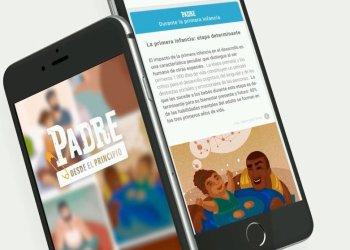 """Aplicación móvil """"Padre desde el principio"""". Imagen: Unicef."""