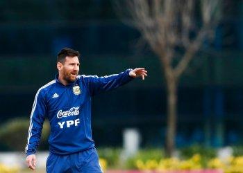 El delantero argentino Lionel Messi durante un entrenamiento de la selección en Buenos Aires, el miércoles 5 de junio de 2019. Foto: Natacha Pisarenko / AP.