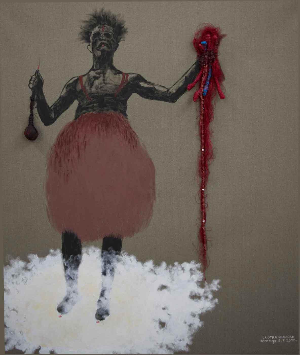 "Obra ""La otra realidad"", del artista cubano Santiago Rodríguez Olazábal."