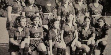 Equipo femenino del Colegio Estadual Christiano Osório de Oliveira de Sao Paulo Boa Vista. 11 de mayo de 1951.