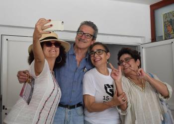 Laura de la Uz, Fernando Pérez, María Isabel Díaz y Daisy Granados. Foto: Telecristal-Holguín.