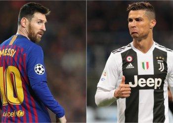 Messi (izq) y Cristiano Ronaldo, otra vez entre los aspirantes al premio anual de la FIFA. Montaje fotográfico: goal.com