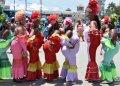 Las Voluminosas en el Carnaval acuático de La Habana, el sábado 3 de agosto de 2019. Foto: Otmaro Rodríguez.