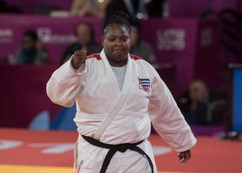 La estelar judoca cubana Idalys Ortiz tras su triunfo en los Juegos Panamericanos Lima 2019. Foto: José Tito Meriño.