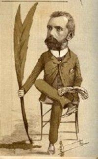 Varona visto por el caricaturista Ricardo de la Torriente, en El Fígaro. Imagen tomada de librinsula.bnjm.cu