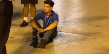 Yunier García Duarte a su llegada al aeropuerto de Miami.