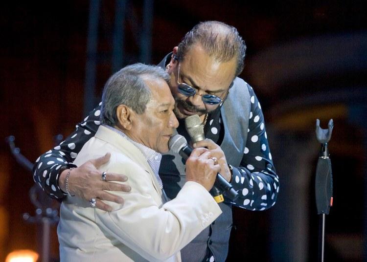 Armando Manzanero y Francisco Céspedes en un concierto en la ciudad mexicana de Mérida en 2015. Foto: Hugo Borges / Notimex / Archivo.