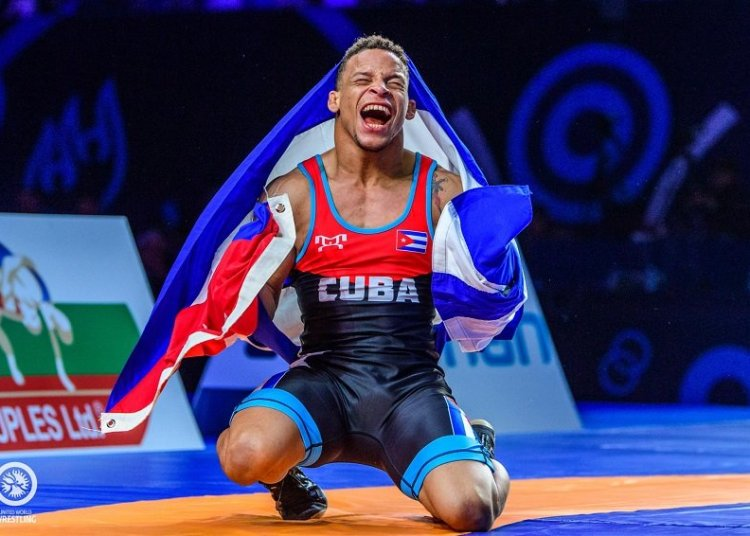 Ismael Borrero, el rey de los 67 kilogramos en el Mundial de Nur Sultan. Foto: United World Wrestling.