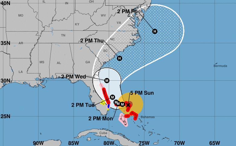 Dorian sigue cobrando fuerza mientras se aproxima a Bahamas y Florida