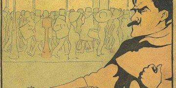 Caricatura de Emilio Bodadilla, Fray Candil, tomada de la portada de uno de sus libros.
