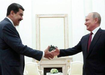 El presidente ruso Vladimir Putin recibe al gobernante venezolano Nicolás Maduro en Moscú el 25 de septiembre del 2019. Foto: Sergei Chirikov/Pool vía AP.