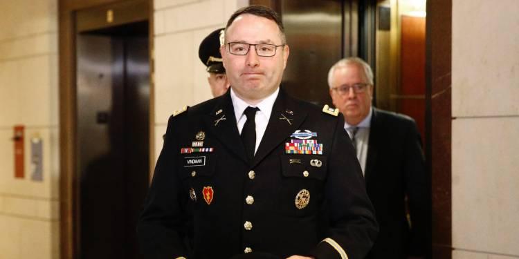 El teniente coronel Alexander Vindman. Foto: Patrick Semansky/AP.