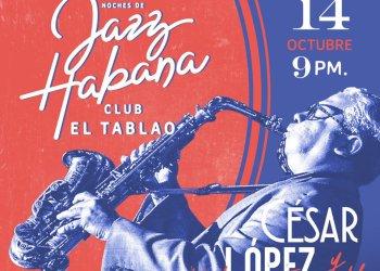 Cesar Lopez y Habana Ensemble en espacio Habana Jazz