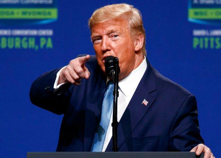 El presidente Donald Trump en el Centro de Convenciones David L. Lawrence de Pittsburgh, Pensilvania. Foto: Evan Vucci/AP.