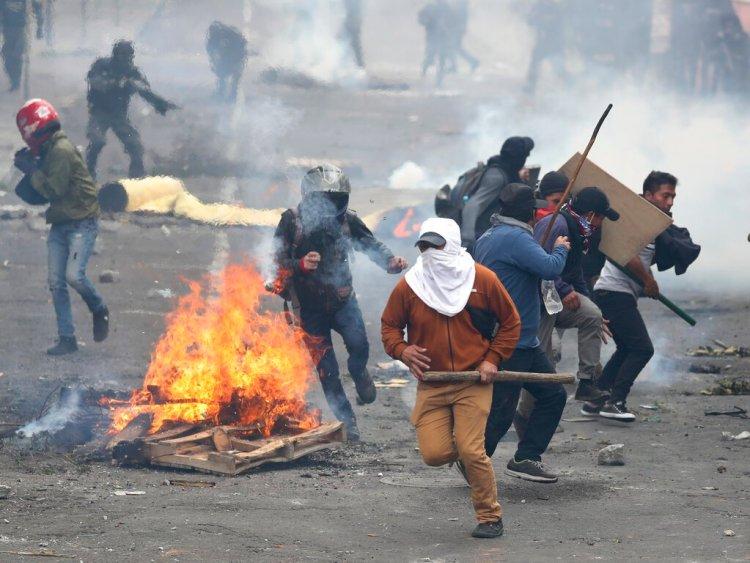 Protestas en Ecuador contra el presidente Lenín Moreno. Foto: AP / Archivo.