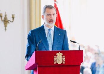 El rey de España, Felipe VI, ofreció un discurso de apoyo a los empresarios españoles en Cuba. Foto: twitter.com/CasaReal/