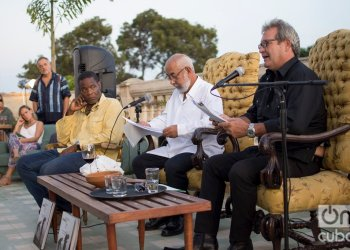 Carlos Cairo, Leonardo Padura, Jorge Perugorría
