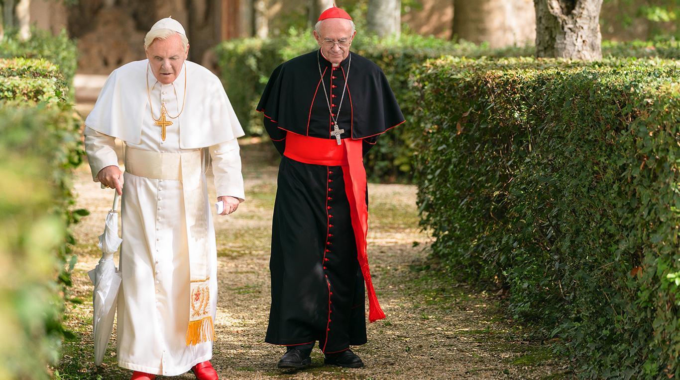 Anthony Hopkins-Jonathan Price-pelicula-the two popes-festival de cine de la habana
