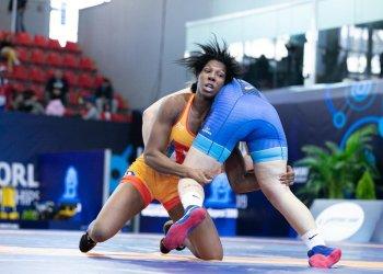Milaymis de la Caridad Marín ganó tres de sus cuatro combates por pegada en el Mundial Sub-23 de Budapest. Foto: Kadir Caliskan/UWW