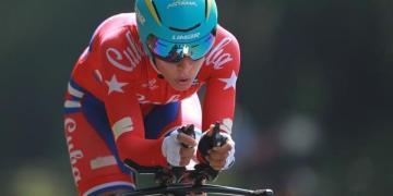 La ciclista cubana Arlenis Sierra. Foto: EFE.