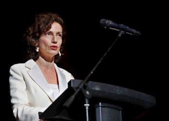 La directora general de la UNESCO, Audrey Azoulay, habla durante la apertura del 41 Festival de Cine de La Habana este jueves, en La Habana. Foto: Yander Zamora.