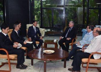 Diaz-Canel recibe enviado especial japonés