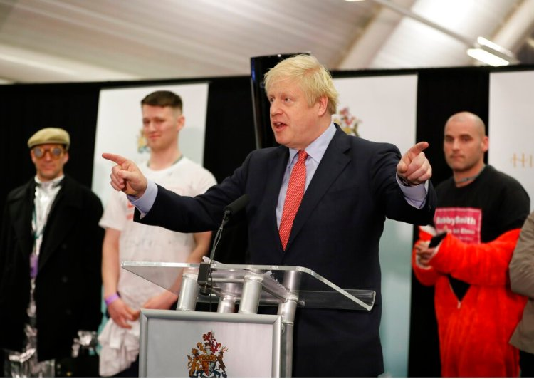 El primer ministro de Gran Bretaña y líder del Partido Conservador, Boris Johnson consiguió un triunfo arrollador en las elecciones. Foto: Kirsty Wigglesworth/AP.