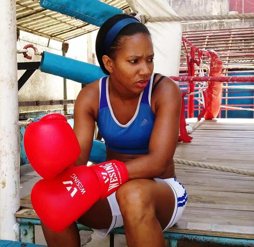 """""""Me falta mucho, no he peleado aún. Pero debo tener la oportunidad y, de momento, el boxeo femenino no se ha aprobado en Cuba"""", dice Idamelys Moreno. Foto: Jesús Múñoz Machín/El Toque."""