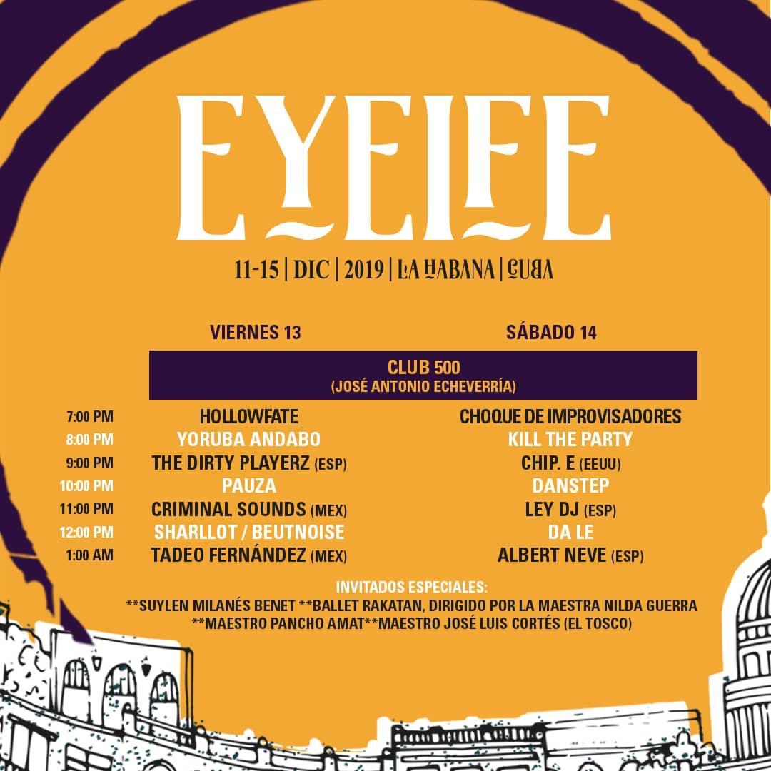 Programa del Eyeife 500