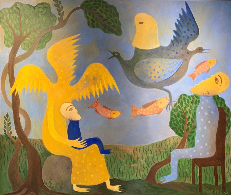 """""""Yesterday Afternoon"""" (Ayer Por la Tarde), 2018, obra de Manuel Mendive Hoyo. Imagen cortesía Fairfield University."""